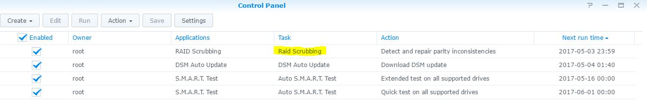 Synology DSM: Scheduled RAID Scrubbing – martinsblog dk