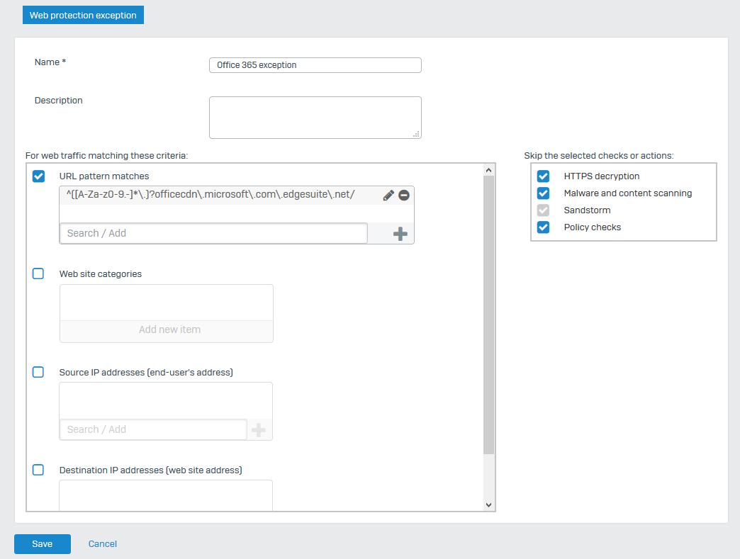 Sophos XG: Office 365 installer fails – martinsblog dk