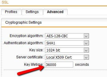 Sophos UTM: Change default timeout for SSL VPN remote access
